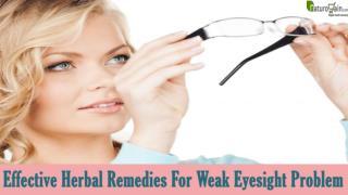 Which Herbal Remedies For Weak Eyesight Problem Work In An Effective Manner?