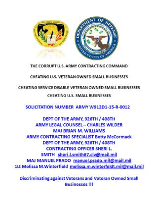 Blog 21 USMC 20150725 SOLICITATION NUMBER  ARMY   W912D1-15-R-0012 - Attachment 4  BUNDLING