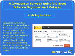 A Comparison Between Trains And Buses Between Singapore And Malaysia