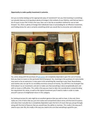 bulk wines
