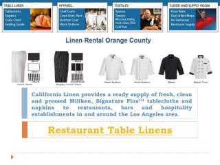 Table Linens Orange County