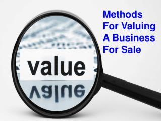 Methods For Valuing A Business For Sale