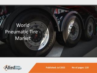 World Pneumatic Tire Market Size, Share, Trends, Growth, Opportunities and Forecasts 2014 - 2020