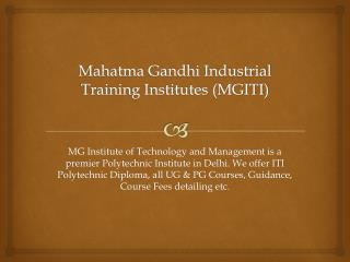 ITI Diploma Courses After 10th, 12th in Delhi