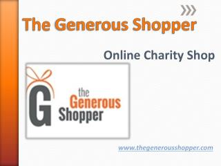 Charity Shopping Portals
