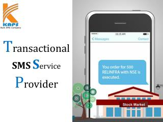 Transactional sms Service Provider