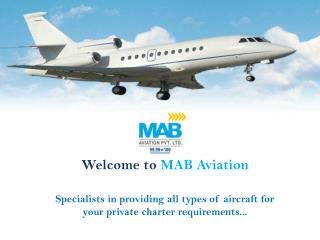 Private air charter services - mab aviation