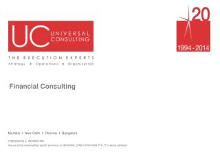 Financial Services Consulting - Universal Consulting