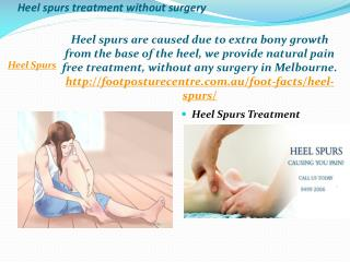 Heel spurs treatment without surgery