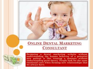 Dental Marketing Consultant