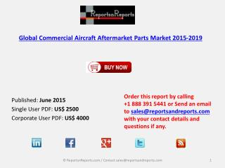 Commercial Aircraft Aftermarket Parts Market 2015 – 2019: Worldwide Forecasts and Analysis