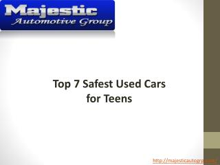 Top 7 Safest Used Cars for Teens