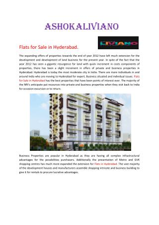 Luxury Flats in Hyderabad.