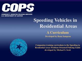 Speeding Vehicles in Residential Areas