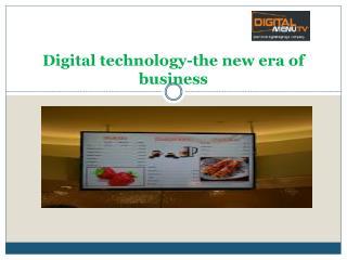 Digital menu & Signage display design Boston