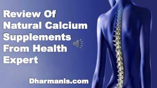 Review Of Natural Calcium Supplements From Health Expert
