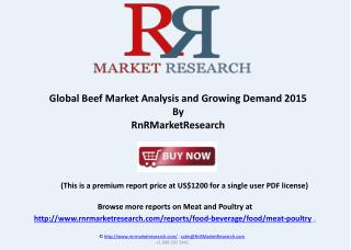 Global Beef Market in Major countries 2015