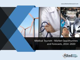 Medical Tourism Market Opportunities and Forecasts, 2014 -2020