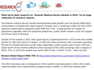 Russian Medical Device Market in 2014