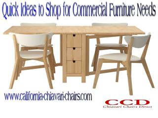 Quick Ideas to Shop for Commercial Furniture Needs