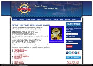 Pittsburgh River Dining and Cruises with Gateway Clipper Fleet