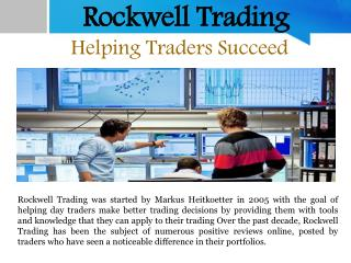 Rockwell Trading - Helping Traders Succeed