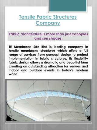 Tensile Fabric Structures Company