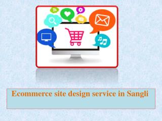 Ecommerce site design service in Sangli