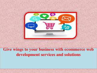 Give wings to your business with ecommerce web development services and solutions