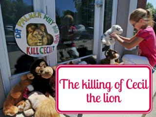 The killing of Cecil the lion
