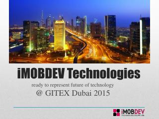 iMOBDEV Technologies @ GITEX Dubai 2015 Exhibition