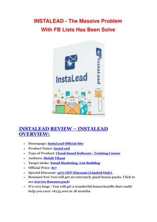 InstaLead  review and $26,900 bonus - AWESOME!