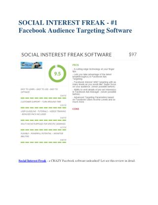 Social Insterest Freak  review and Exclusive $26,400 Bonus