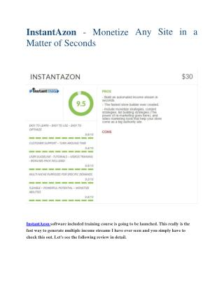 InstantAzon Reviews and Bonuses-InstantAzon