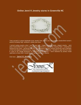 Online Jenni K Jewelry stores in Greenville NC