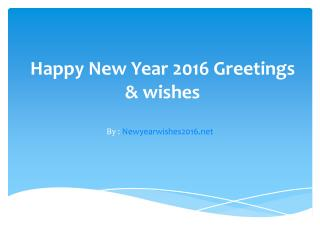 Wishes of New Year 2016