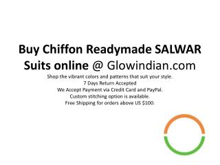 Buy chiffon readymade salwar suits online