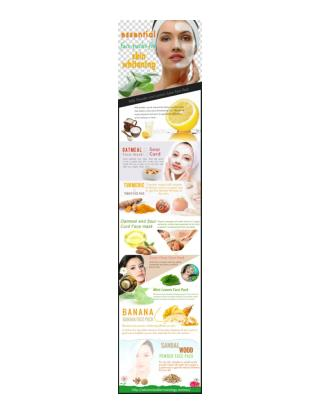Advanced Dermatology Reviews - Essential Face Packs for Skin Whitening.