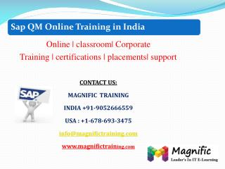 online training classes on sap qm in kolkata,mumbai