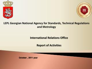 International Relations Office   Report of Activities