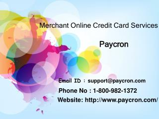 How are Merchant Online Credit Card Services helpful?