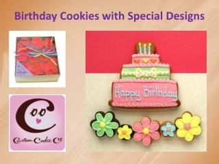 Birthday Cookies with Special Designs