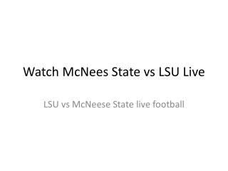 LSU vs McNeese State Live College Football