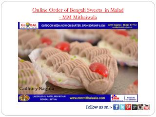 Online Order of Bengali Sweets in Malad - MM Mithaiwala