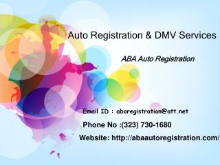 Auto Registration & DMV Services
