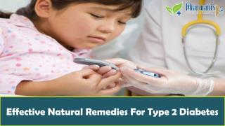 Effective Natural Remedies For Type 2 Diabetes