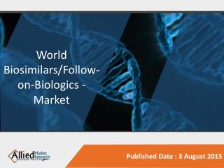 World Biosimilars/Follow-on-Biologics - Market Opportunities and Forecast, 2014 - 2020