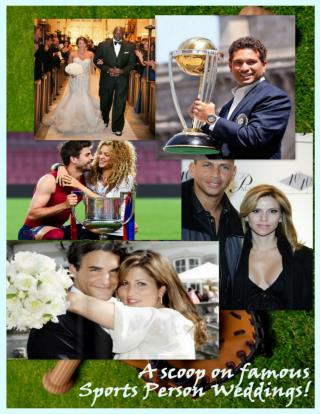 A scoop on famous sports person weddings! - A2zWeddingCards