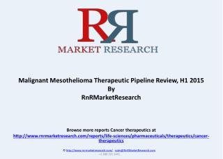 Malignant Mesothelioma Pipeline Review and Market, H1 2015