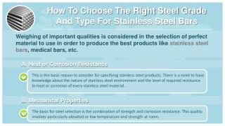 How To Choose The Right Steel Grade And Type For Stainless Steel Bars - Centerlss Grinding - Medical Steel Bars